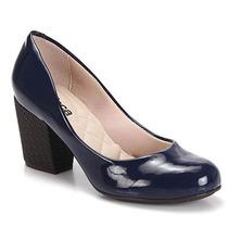 Sapato Salto Feminino Moleca - Marinho