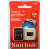 Cartão De Memória Micro Sd Sandisk 64gb+leitor Usb