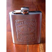 Licorera Sobaquera Anfora Jack Daniels Acero Inoxidable