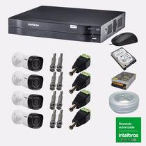 Kit Cftv 4 Cam Hdcvi 1120b Intelbras Dvr 8 Can Intelbras1008