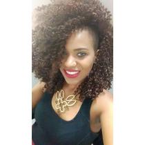 Aplique Cabelo Cacheado Afro Mega Hair Fibra Futura 2 Metros
