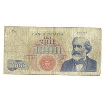Billete Italia 1,000 Liras (1962) Verdi