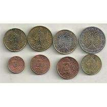 Serie 8 Monedas Euro Francia 1999/01 Excelentes/sin Circular