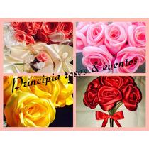 Shabby Chic Rosas De Raso 15 Años / Bodas Unicas !!!!