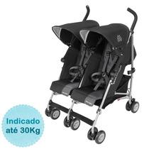 Carrinho De Bebê Para Gêmeos Twin Triumph Maclaren - Black/c