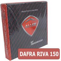 Kit Relação Moto Dafra Riva 150 Aço 1045