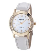 Relógio Feminino Importado Barato Branco Pedras