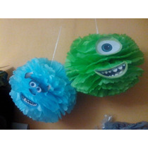 Pompones Decorativos Monster Inc