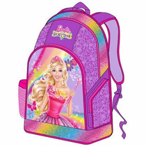Morral Bolso Grande Barbie Escolar Disney Original