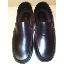 Zapatos Mocasin Niño Full Time Negro Talla Diferent 31 Y 32