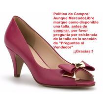 Zapatillas Marca Andrea Bajas Fiusha Moño Piel 7cms 2291765