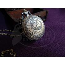 Relógio De Bolso Quartzo Vintage Temática Astrolábio Antigo