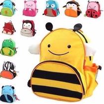 1 Mochila Infantil Animais Escola Bebê Stilo Creche Escola
