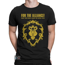 Camisa, Camiseta World Of Warcraft Alliance Aliança Rpg Game