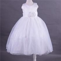 Vestido Infantil Festa Dama Florista Longo Rosa,lilas,branco