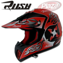 Casco Motocross Rush Rojo Todos Los Talles Plazamotos