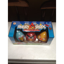 Juguete Angry Birds Lanzador De 3muñeco Para Niño Con Sonido