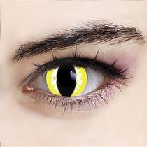 Olhos Cosplay -lens Olho De Gato Amarela - Fantasia
