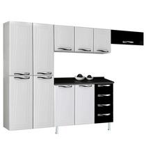 Cozinha Compacta Ipanema Top 4 Peças Branco/preto Colormaq