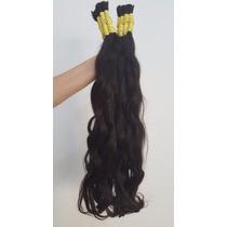 Cabelo Humano Mega Hair Levemente Ondulado 50 Cm 100 Gramas.