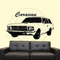 Caravan Opala Adesivo De Parede Carro Antigo Decoração