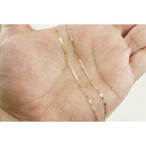 Corrente Piastrine 70cm Ouro 18k - 750