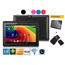 Tablet 7 Android 4.4 Dualcore Wifi 4gb Doble Camara + Regalo