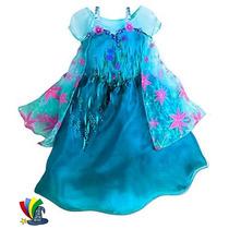 Disfraz Vestido Elsa Frozen Fever Original Disney Store