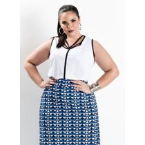 Blusa Plus Size Tiras Tendência Verão17 Maravilhosa