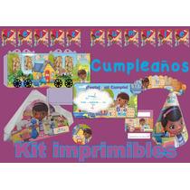 Doctora Juguete Decoracion De Cumpleaños Kit Imprimibles Pe