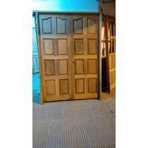 Puerta De Dos Hojas De Algarrobo Exterior 120x200