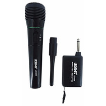 Microfone Sem Fio Profissional Completo + Cabo Transmis