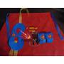 Capa+antifaz+muñequera Superheores,batman,araña Superman Uni