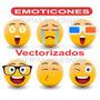 Vectores De Emojis Emoticones Caritas + Diseños Cartoon +