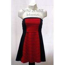 Vestido Strapless Pin Up Gothic Punk