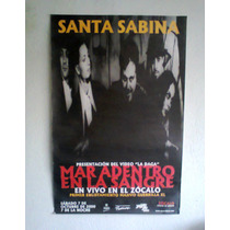Santa Sabina Poster Tour Oficial Original Video La Daga