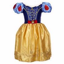 Vestido Fantasia Infantil Branca De Neve Vestido No Brasil