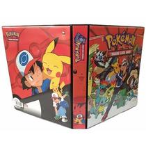 Pasta Pokemon Ash E Pikachu - 3 Aros + 20 Folhas