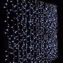 Cascata De Leds 9 X 2 M Branca Luz Pisca Ou Fixa