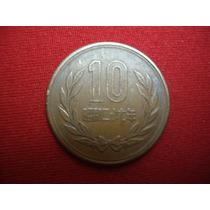 Antiga Moeda Do Japão 10 Yen Showa (reeded Edge) 1952 - L367