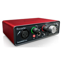 Focusrite Scarlett Solo Placa De Sonido Interface Usb