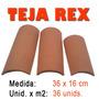 Tejas Rex 36x16 Puesto En Obra Por Millar