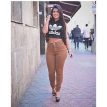 Calça Jeans Cintura Alta Caramelo Cós Alto Juju Moda Panicat