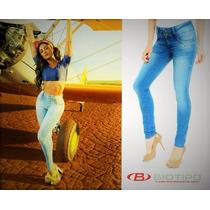 Calça Jeans Feminina Biotipo Cigarrete Skinny Cintura Média.