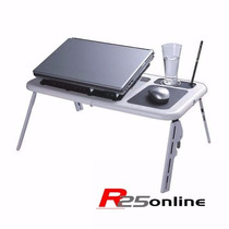 Mesa Notebook Table Doblável Portátil Suporte Cooler Usb Pc