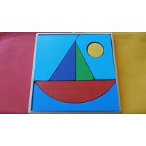 Rompecabezas Barco De Madera,para Niños, Didáctico, Artesana