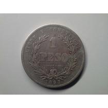 Moeda Uruguay 1 Peso 1893/73 Prata