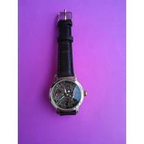 Relógio Unissex Sport Pulseira De Couro Transparente