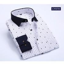 Camisas Caballero Slim Fit Asiatico Coreano Envio Gratis