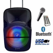 Bafle Bocina 12 Amplificado Bluetooth Recargable Usb Activo